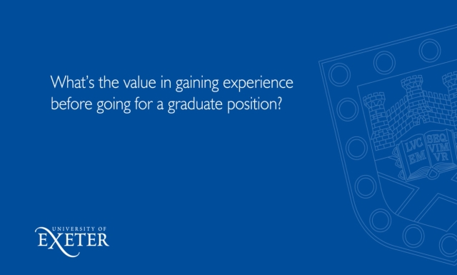 What's the value in gaining experience before going for a graduate position? Sue Primer, Director Marketing and Corporate Communications