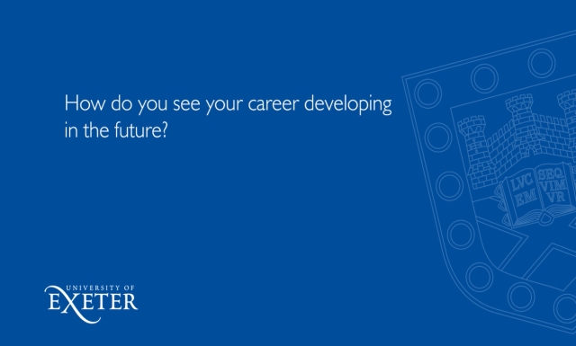 How do you see your career developing  in the future? Mia Baker, Project Management Office