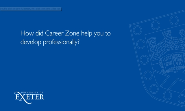 How did Career Zone help you to develop professionally? Dean Pomeroy, English, History and Politics, BA, FXU President