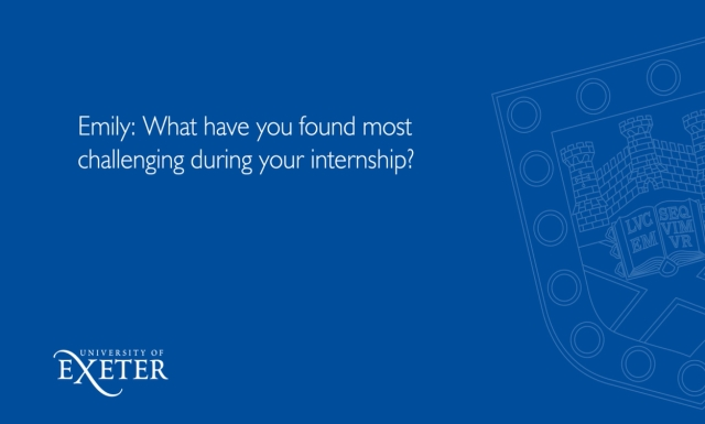 Emily: what have you found most challenging during your internship? Emily Collie, Marketing & Communications Support Officer and Sue Primer, Director Marketing and Corporate Communications