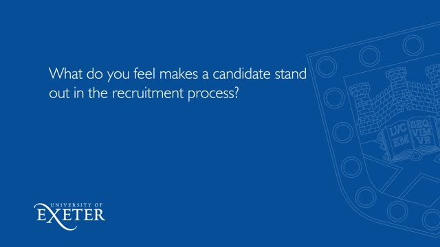 What do you feel makes a candidate stand out in the recruitment process? Iain Hunter, Group Commercial Director