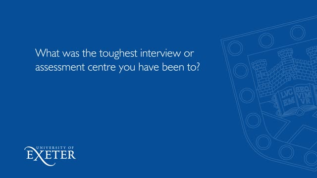 What was the toughest interview or assessment centre you have been to? Eindra Cho, Law, LLB