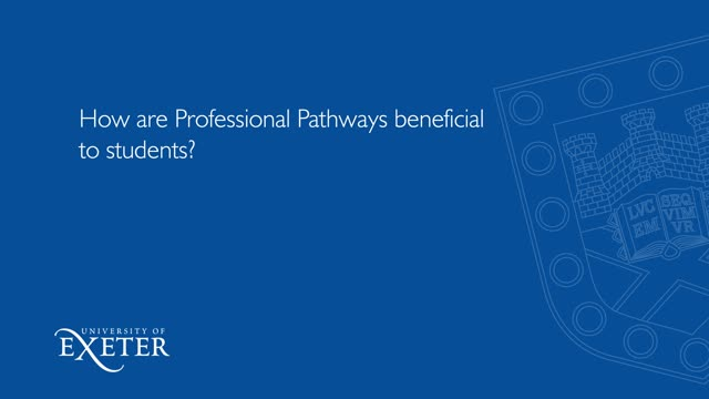 How are Professional Pathways beneficial to the students? Ameeta Virk, Department for International Trade, Market Specialist