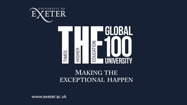 THE World University Rankings - The University of Exeter